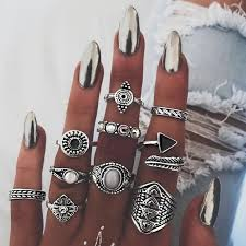 knuckle rings set images Vintage knuckle ring set for women shoprandy jpg