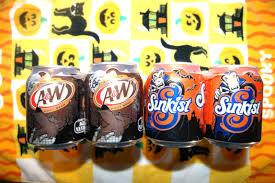 halloween treats 7 up sunkist a u0026w root beer halloween soda cans