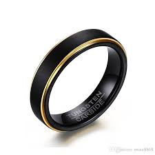 cool rings for men wholesale cool simple men s black gold rings top quality tungsten