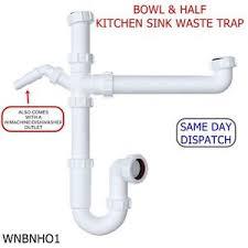 kitchen sink wastes 40mm bowl half kitchen sink waste trap standard kit set with