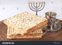 unleavened bread for passover closeup matzah on plate which unleavened stock photo 173259254