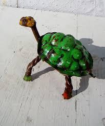 6 small colorful turtle yard ornament