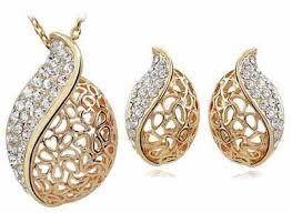 saudi arabia gold earrings طقم نسائي خلاب مطلي ذهب عيار 18 review and buy in riyadh jeddah