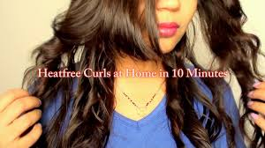 hairstyle no heat curls without heat hair tutorial no braids or