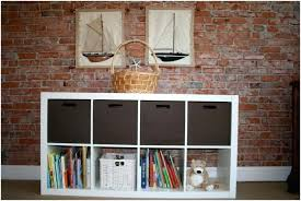 Rattan Bookcase Bookcase Small Bookcase With Baskets Narrow Bookcase With