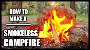 How To Make A Campfire In Your Backyard How To Make A Smokeless Campfire