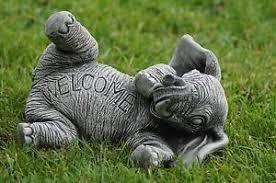 welcome elephant garden ornament statue sculpture decor gift