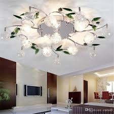 Ceiling Lights Cheap by Best Quality Led Ceiling Light Modern Green Leaves Light Crystal