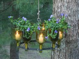 Garden Candle Chandelier Diy Chandeliers And Outdoor Lighting Wine Bottle Chandelier