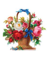 basket of flowers vintage flower basket flowers flower basket flower