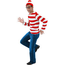 spirit halloween costumes for men where u0027s waldo costume kit s m walmart com