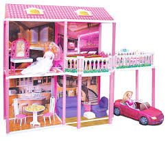 girls dollhouse bed buy girls big doll house with doll n car by toyzone for girls at