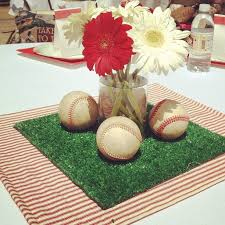 Sports Baby Shower Centerpieces by Best 25 Baseball Centerpiece Ideas On Pinterest Baseball Party