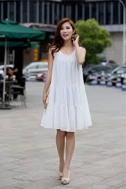 white knee length summer dress naf dresses