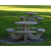 Design For Octagon Picnic Table by Concrete Picnic Tables Cement Picnic Tables The Park Catalog