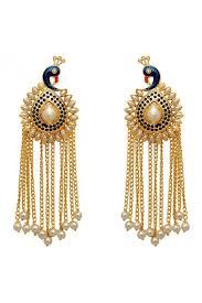 fashion earrings alloy party wear fashion earrings in gold colour