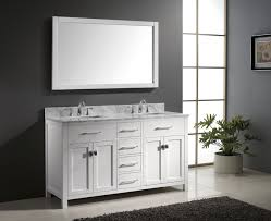 84 Inch Bathroom Vanities by Contemporary 84 Inch White Double Sink Bathroom Vanity Set With