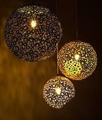 Coconut Shell Chandelier Lighting Detalia
