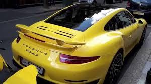 yellow porsche bright yellow porsche 911 turbos