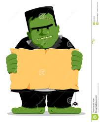 frankenstein halloween with sign royalty free stock image image
