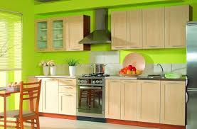 bright green kitchen wall colors and white oak cabinets and silver