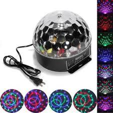 led disco ball light 6 color disco dj stage lighting digital led rgb crystal ball light