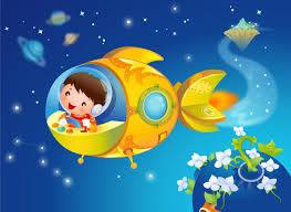children u0027s wallpaper fantasy smile world flower spacecraft hd