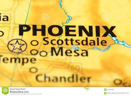 Phoenix Arizona Map by Phoenix Arizona On Map Stock Photo Image 87763184