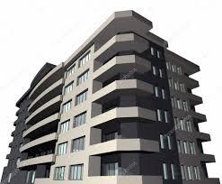 3d render modern house building u2014 stock photo pajche 2153228