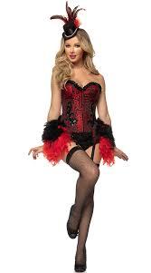 Size Burlesque Halloween Costumes Deluxe Red Burlesque Showgirl Costume Showgirl Deluxe Costume