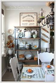 Decorating A Bakers Rack From My Front Porch To Yours Farmhouse Style Kitchen Fall 2015