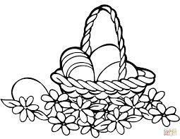 easter basket coloring page free printable coloring pages