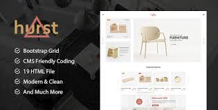 hurst ecommerce furniture template by codecarnival themeforest
