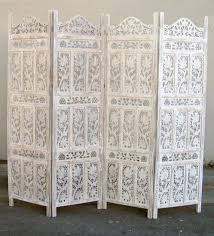 Screen Room Divider Iotc Usa Sh 1586g Carved Wooden Screen Room Divider Flower Jali Wh