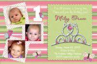 first birthday photo invitations