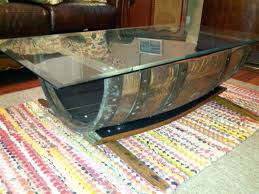 Oak And Glass Side Table Glass Coffee Table Whiskey Barrel Tablepinterest Coffee Diy