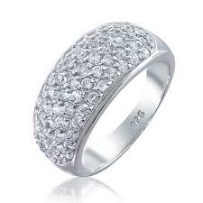 silver rings price images Bling jewelry 925 sterling silver cubic zirconia pave five row jpg