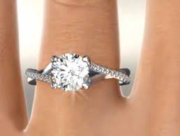 twisted band engagement ring twisted band engagement rings brides and rings