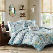 Aqua And White Comforter Beautiful Blue Teal White Aqua Yellow Floral Beach Bright Tropical