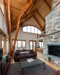 Timber Frame Home Interiors Open House A Vermont Hillside Home