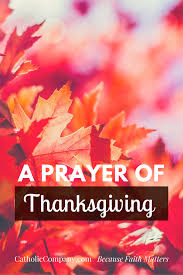 a prayer of thanksgiving gratitude