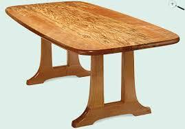 Designer Tables Jeffrey Dale Designer Tables Spalted Curly Maple Trestle