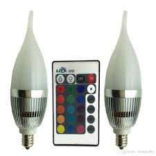 Color Led Light Bulbs by Best Ljy 2 Pack E12 Candelabra 3w Rgb Led Light Remote Control
