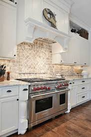 Veneer Kitchen Backsplash Kitchen Backsplash Tile Brick Pattern With Faux Brick Kitchen