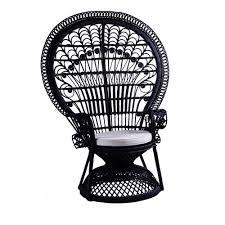 Orientalische Esszimmer Peacock Chair U201epfau U201c Stuhl Aus Schwarzem Rattan