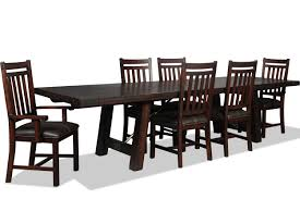 eilean table 4 side chairs and 2 arm chairs mahogany levin