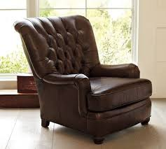 Armchair Strategist Baxter Leather Club Armchair Pottery Barn Furniture