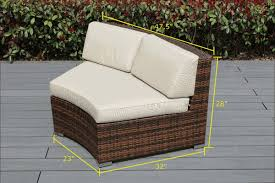 Rattan Curved Sofa Beautiful Brand New Outdoor Wicker Curved Chair