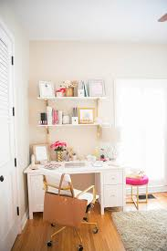 Office Shelf Decorating Ideas How To Make A Small Office Space Work The Fashionista U0027s Diary