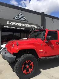 red jeep red jeep wrangler jk on 18x9 xd827 rockstar 3 red inserts and